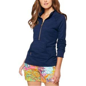Lilly Pulitzer Tops - Lily Pulitzer Skipper Popover Sweatshirt S